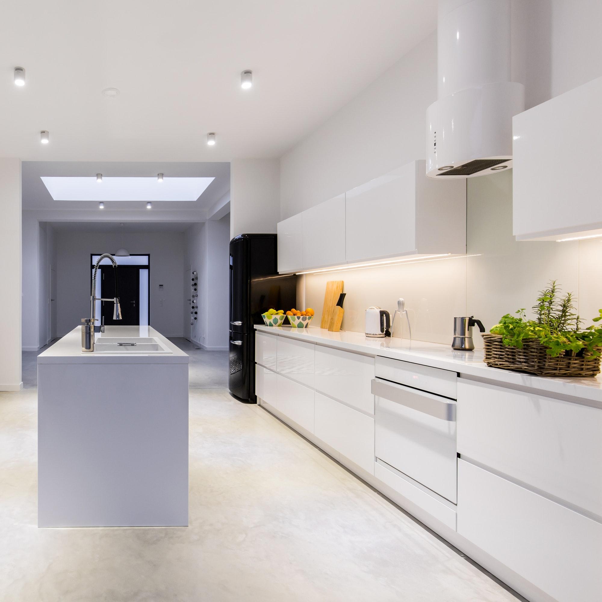 Bright kitchen with kitchen island